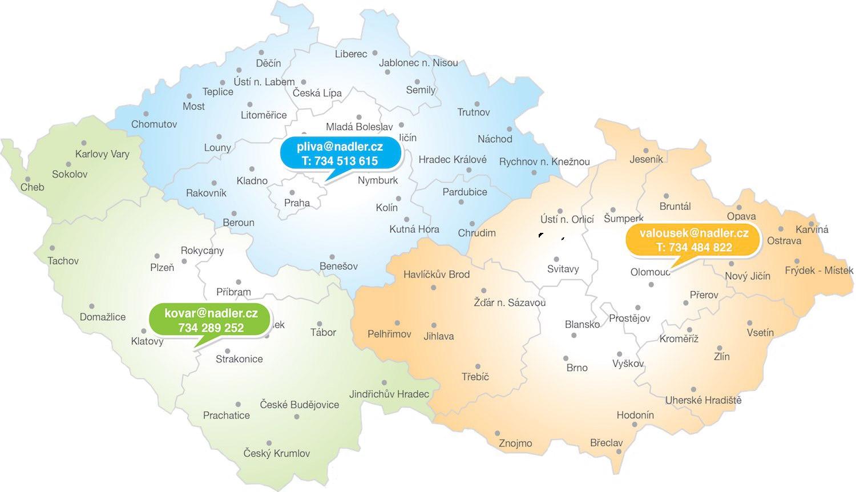 Mapa pokrytí